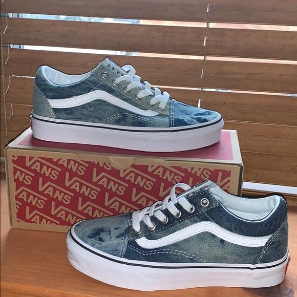 Vans Old Skool Skate Shoe Acid Denim